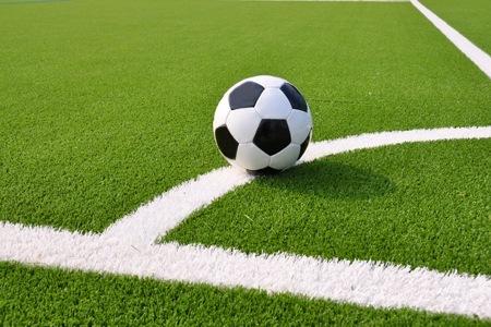 Campo e pallone da calcetto